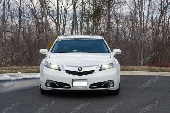 W LED Daytime Running Lights On A Acura TL IJDMTOY - Acura tl headlight bulb