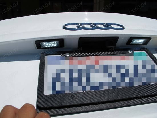 Audi S4 LED License Plate Lights