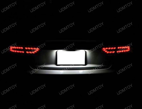Audi A5 LED license plate 03