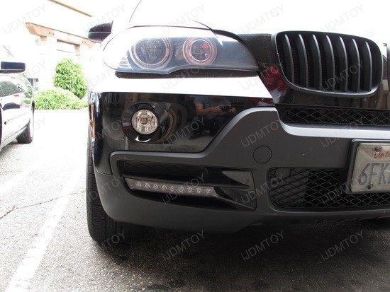 BMW X5 9-LED DRL Day Light Kit 4
