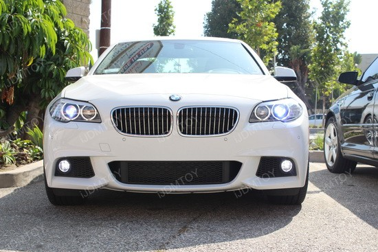 Super Bright 50w H11 Cree Led Fog Lights On A 2012 Bmw