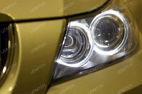 BMW LED Ring Marker Bulbs gold 03