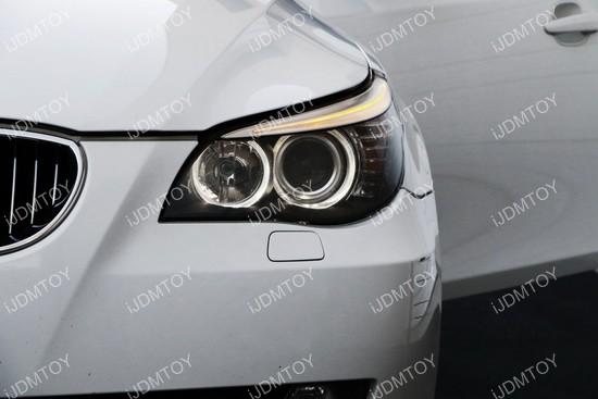 BMW 5 Series E60 LCI LED Halo Rings 02