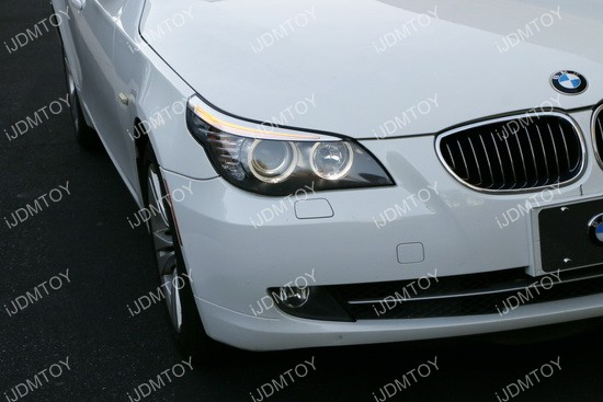 BMW 5 Series E60 LCI LED Halo Rings 04