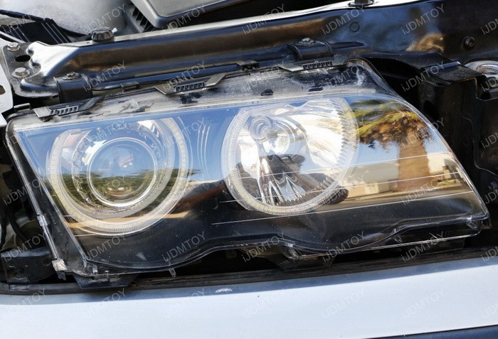 Install Switchback LED BMW Angel Eyes 12