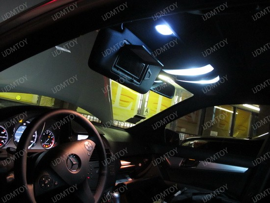 2009 - mercedes - c350 - led - interior - lights - 4