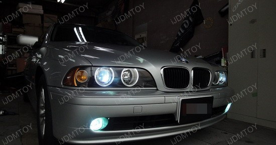 2001 - bmw - e39 - 5 - series - led - angel - eyes - 2