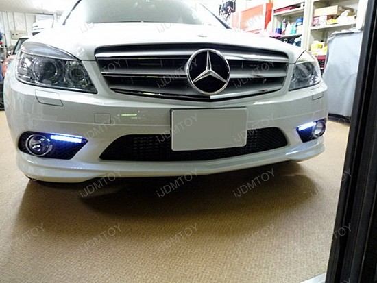 mercedes - w204 - led - daytime - running - lights - drl - install - diy - 1