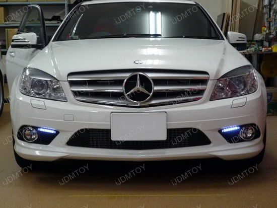 mercedes - w204 - led - daytime - running - lights - drl - install - diy - 6
