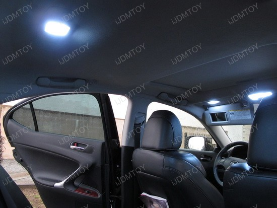 2008 - lexus - is250 - led - dome - lights - interior - package - 1