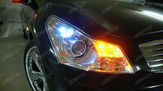 2007 - infiniti - g35 - 168 - led bulbs - parking - lights - 1