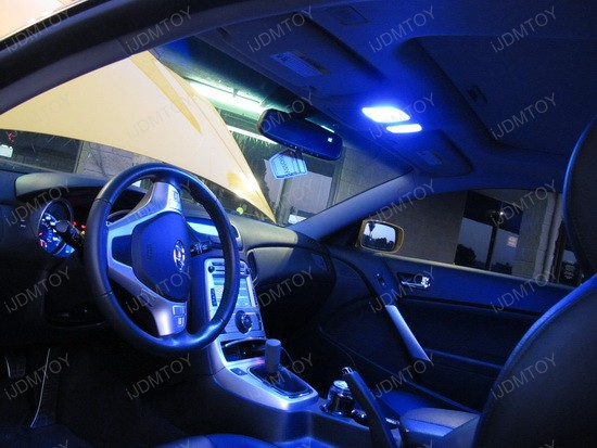 2010 hyundai genesis coupe goes up with led interior lights ijdmtoy blog for automotive lighting. Black Bedroom Furniture Sets. Home Design Ideas