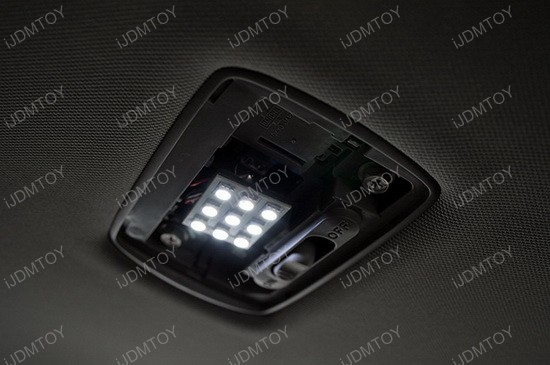 Honda Civic Si Sedan LED Interior Dome Map Lights Installation