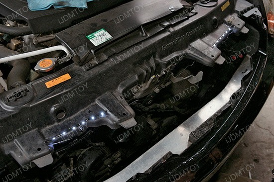 LED strip lights under hood installation