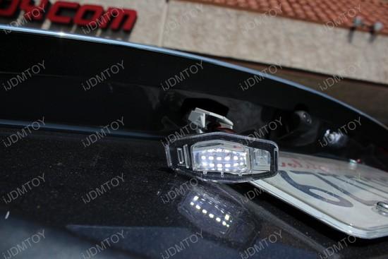 Honda Civic LED License Plate Lights Installation 11