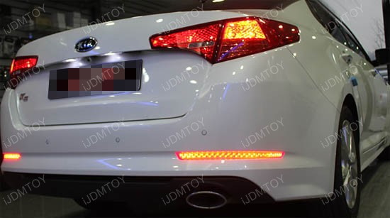 How to install the ijdmtoy led bumper reflectors for kia optima kia optima led bumper reflector lights installation 7 freerunsca Images
