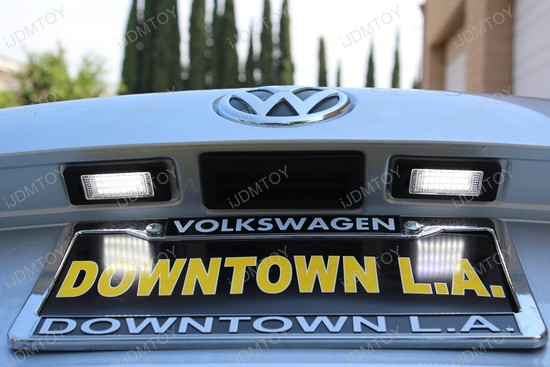 Volkswagen Passat LED License Plate Lights 7