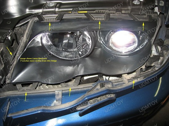 How to install the Halo LED Angel Eyes Rings For BMW E46 325i 330i M3