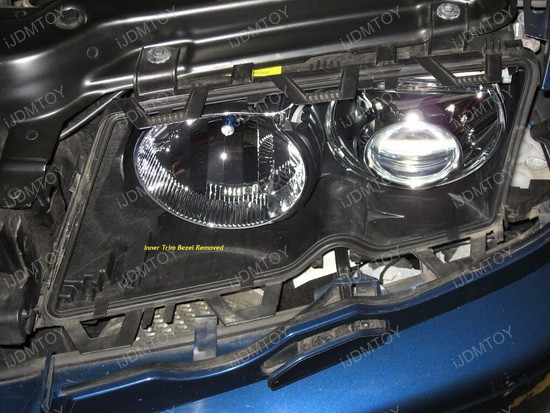 BMW E46 LED angel eyes rings installation 8