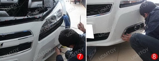 Chevrolet Malibu Exact Fit 12-LED DRL Installation 4