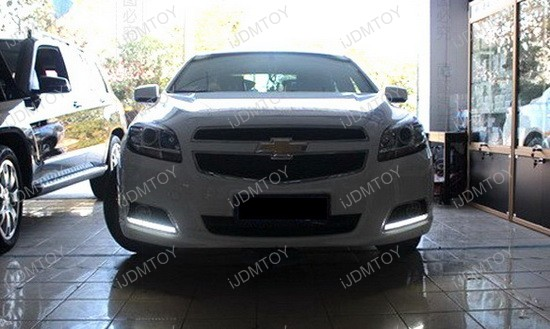 Chevrolet Malibu Exact Fit 12-LED DRL Installation 7