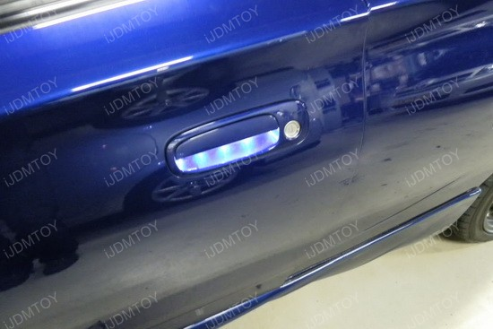 exterior car door handle installation. led emitter door handle lights installation 5 exterior car