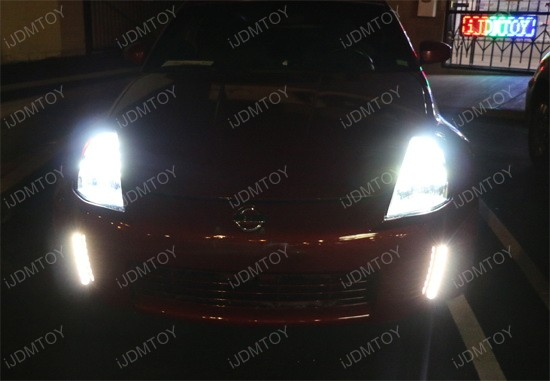 Nissan 350Z LED Front Bumper Reflector Daytime Running Lights 15
