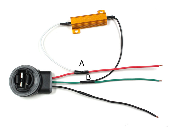 how to install 50w 6 ohm load resistor for led turn signal lights what size resistor for led led load resistor splice 11