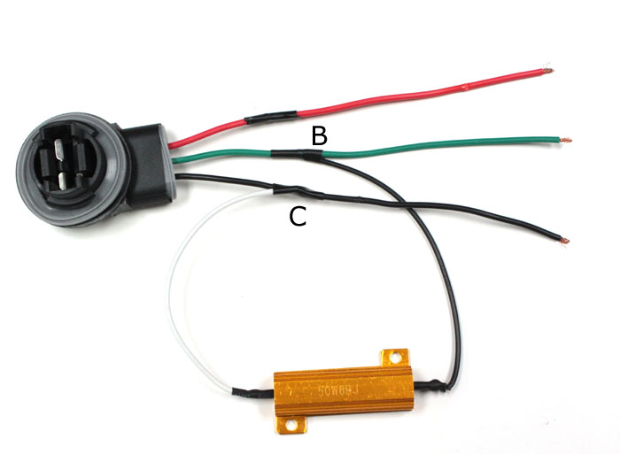 How To Install 50W 6-Ohm Load Resistor For LED Turn Signal Lights ...