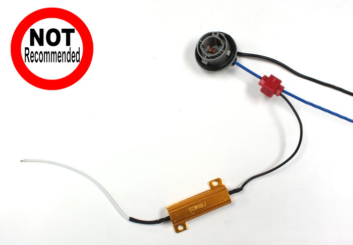 LED load resistor splice 14 how to install 50w 6 ohm load resistor for led turn signal lights  at crackthecode.co
