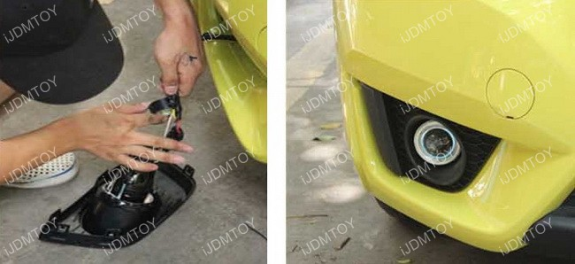 Install Halo Projector Fog Light 06