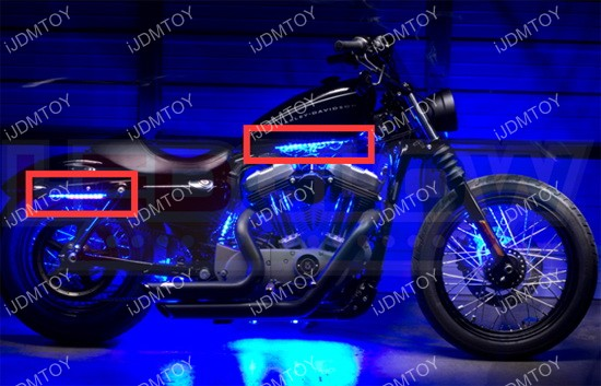 Install motorcycle LED strip 01