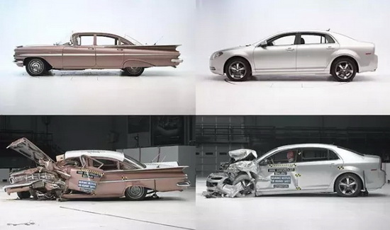 crash test comparison 2009 chevy malibu vs 1959 chevy bel air ijdmtoy blog for automotive. Black Bedroom Furniture Sets. Home Design Ideas
