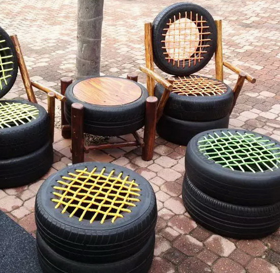 DIY Recycled Tires 07