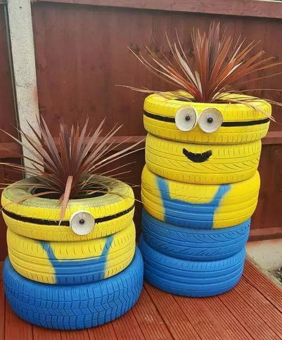 DIY Recycled Tires 13