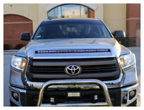 Toyota Tundra LED Hood Bulge Strip Installation