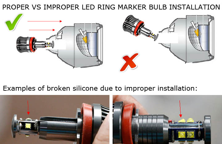 installation guide for bmw angel eyes high power h8 led ring marker rh store ijdmtoy com install led bulbs installing led bulbs in projector headlights