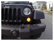 Install Jeep Wrangler Vertical LED DRL/Turn Signal Lamps