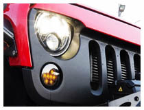 Install Jeep Wrangler Smoked LED DRL/Turn Signal Lamps