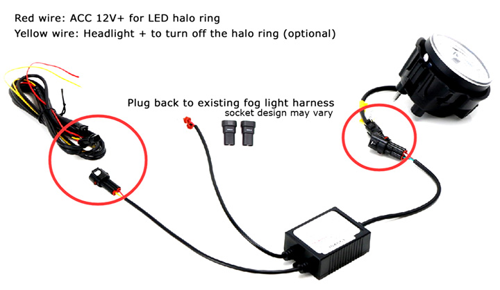 Install LED fog light kit