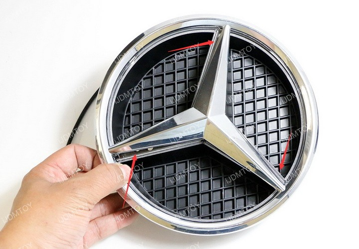 Install Mercedes illuminated LED base