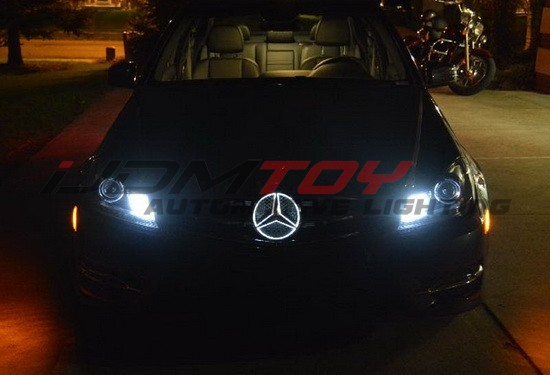 Mercedes Benz LED illuminated base