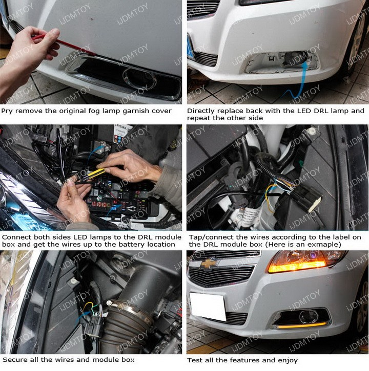 Install Chevy Malibu LED Daytime Running Lights