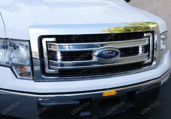 truck grille led lights on a 2014 ford f150 ijdmtoy. Black Bedroom Furniture Sets. Home Design Ideas