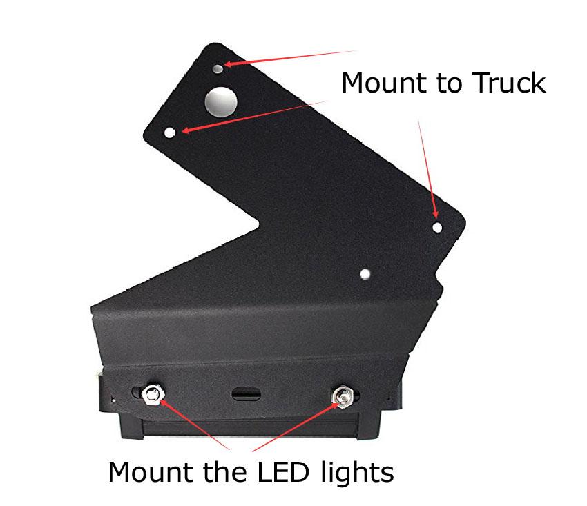 Install Ford Raptor LED Quad Fog Lights