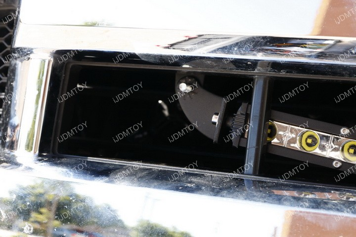 Ford F150 Center Bumper Grille Light Bar Installation 14