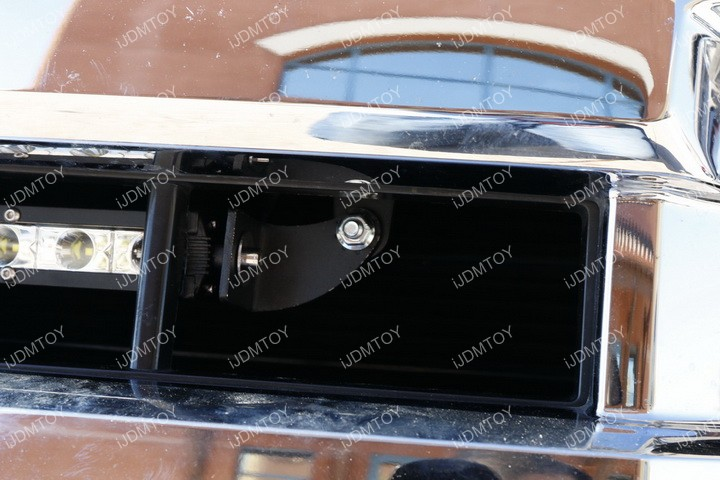Ford F150 Center Bumper Grille Light Bar Installation 16