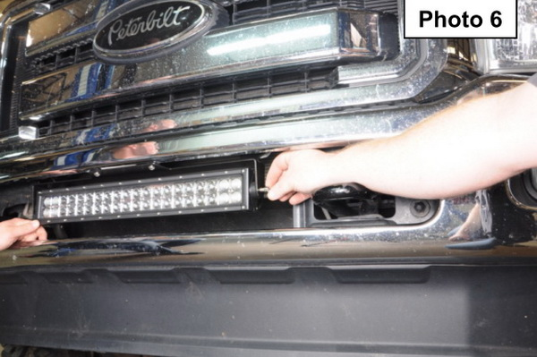 Install Ford Superduty LED Light Bar 07