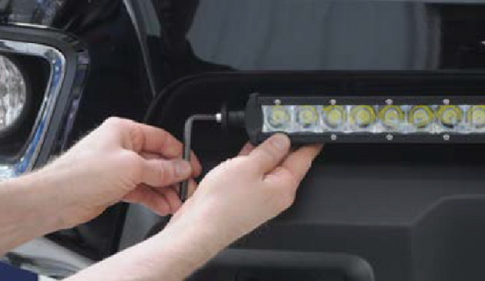 Install GMC LED Light Bar 08