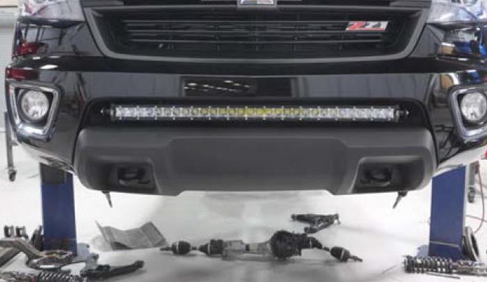 Install GMC LED Light Bar 09